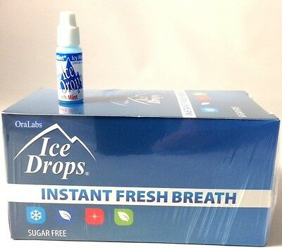 50 ICE DROPS ICY MINT LIQUID BREATH FRESHENERS ( ONE BOX ) the new packaging