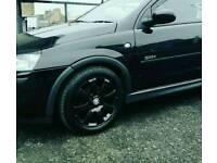 """Vauxhall 4x15"""" powdercoated alloys + tyres"""