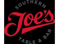 Joe's Southern Kitchen requires Assistant Restaurant Manager OTE 28-30k