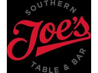 Joes's Southern Table, Covent Garden REQUIRES WAITING STAFF and BUSSERS £450/wk OTE