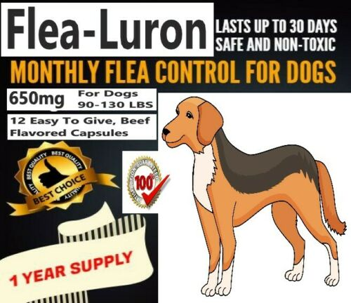 Monthly Flea Control For Dogs 90-130 Pounds, 12 Capsules, 1 Year Supply,  650mg