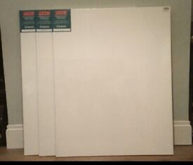 3 x Artists' Stretched Canvas' 80x100cm (New. Ex Shop Stock)