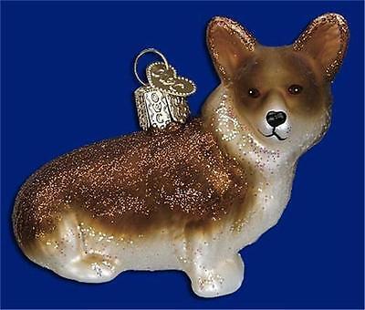 PEMBROKE WELSH CORGI OLD WORLD CHRISTMAS GLASS DOG CANINE BREED ORNAMENT 12342