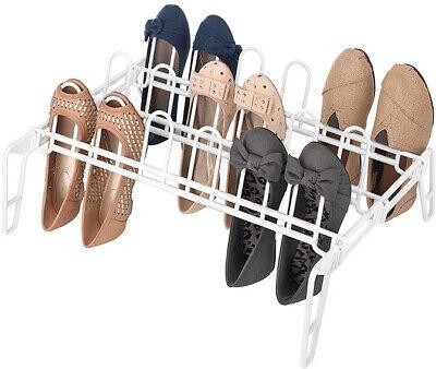 Whitmor 6780-5440-WHT Pair Floor Shoe Rack, White