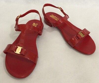 Salvatore Ferragamo Girls Shoes Size 32 New Patent Leather