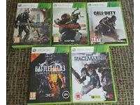 Xbox 360 games × 5