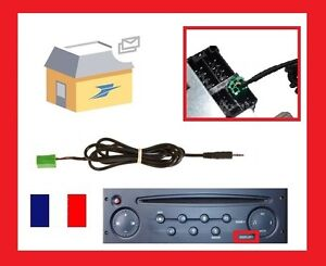cable auxiliaire autoradio renault megane 2 clio 2 3 kangoo modus scenic 2 ebay. Black Bedroom Furniture Sets. Home Design Ideas