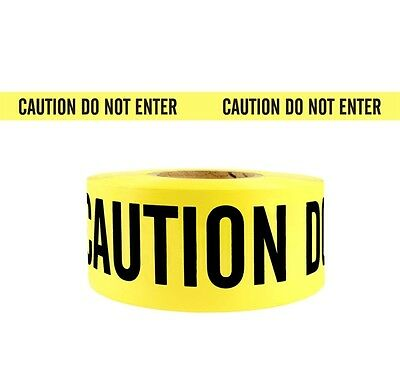 1 Roll- Yellow Barrier Caution Do Not Enter Tape 2.0 MIL 3
