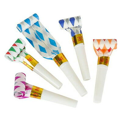48 BLOWOUTS BLOW OUTS HOLIDAY NOISEMAKERS PARTY FAVOR CARNIVAL NEW YEARS - Nye Party Favors