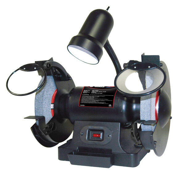 "8"" 3/4HP BENCH GRINDER W/LIGHT (ATD-10558)"