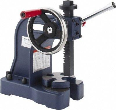 Palmgren 1 Ton Pressure Single Leverage Manual Power Arbor Press 8 Inch Max...