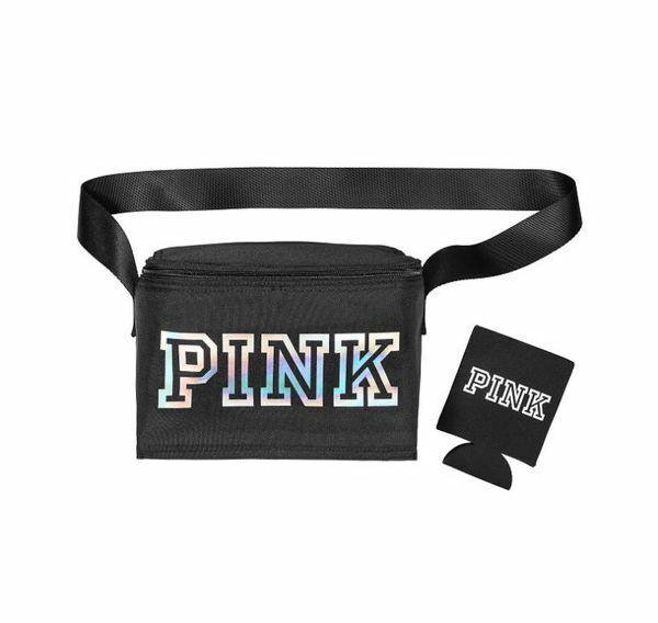 Victoria's Secret Pink Black Cooler Lunch Box Bag with Black