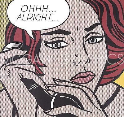 """LICHTENSTEIN ROY - OHHH...ALRIGHT..., 1964 - ART PRINT POSTER 11"""" x 14"""" (601)"""