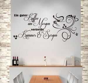 wandtattoos mit kaffee motiv g nstig online kaufen bei ebay. Black Bedroom Furniture Sets. Home Design Ideas
