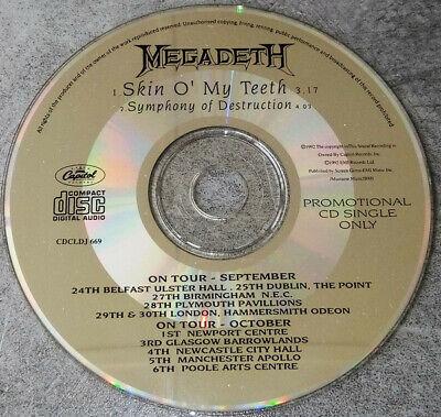 Megadeth,Skin O' My Teeth, NEW/MINT Original UK PROMO CD single