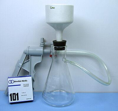 500 Ml Filtration Flask Buchner Funnel Vacuum Pump Filtration Set