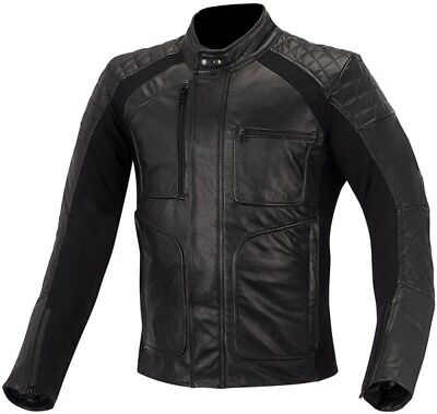 Alpinestars Hoxton Herren Motorradjacke Lederjacke schwarz Biker Echtleder Jacke