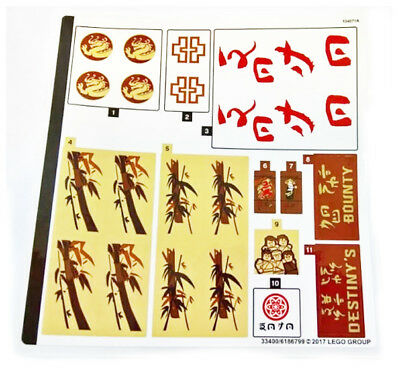 Lego The Ninjago Movie 70618 Destinys Bounty Sticker Sheet