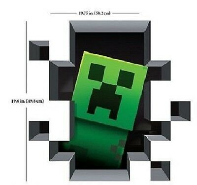 Giant Head Peeking - Minecraft - 3D Vinyl Removable Wall Cling Decals Stickers