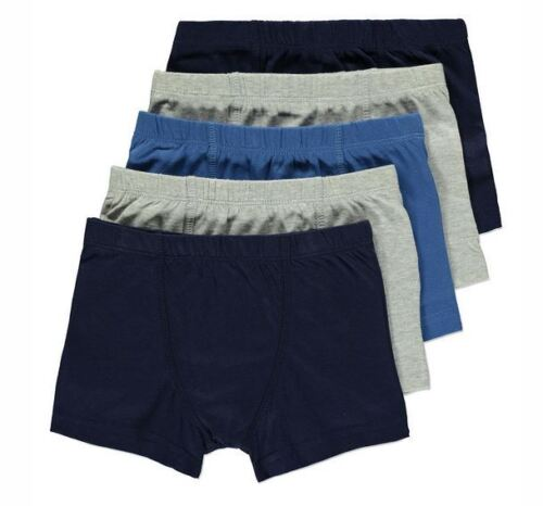 5 x Pairs Boys Hipster Trunks Boxers Shorts Pants 100% Cotton Age 5 - 8 Years