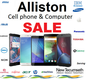 Alliston cell phone and computer sale, same day repair servie av