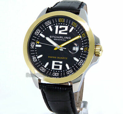 STUHRLING MEN SWISS MADE QUARTZ 46mm *SUPER CLEARANCE SALE*