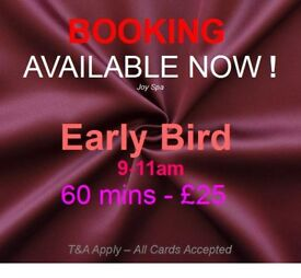 Early bird 50% off, Full body massage in Newcastle Weekdays only booking before 11am