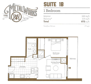 BRAND NEW 1 Bdrm Available in MetalWorks Available July 1st