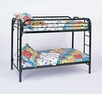 Brand new Twin over twin black bunk bed sale @ MATTRESS PLAZA