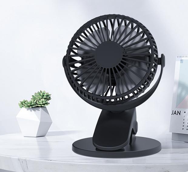 360° Rechargable Fan Clip Desk