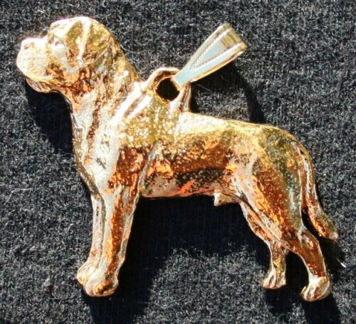 Mastiff 24K Gold Plated Pewter Pendant Jewelry USA Made