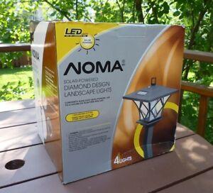 NOMA Solar LED Diamond Coach Lights, 4-Pk