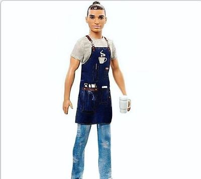 BARBIE KEN DOLL BARISTA YOU CAN BE ANYTHING 2018  NRFB
