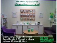 Volunteer with Macmillan @ West Dunbartonshire supporting anyone affected by cancer
