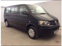Volkswagen Transporter Shuttle SE 2.0 140BHP LWB Minibus 9s Black, Air-con, Drives Superb, PCO