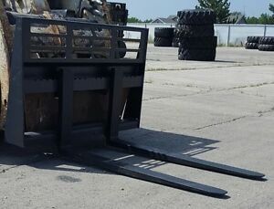 5000 LBS SKID STEER PALLET FORKS 48 & 72 INCH BOBCAT CAT LOADER