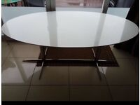 Large gloss white dining table 1.8 metres