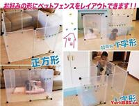Top Paw® Double Door Dog Crate (Xsmall) and Cute Japan Dog Fence