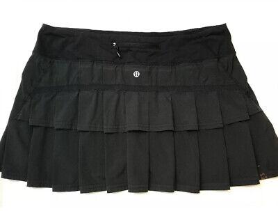 Women's 🍀Lululemon sz 10 Run: Pace Setter skirt Skort - Black