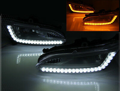 2Way LED Fog Lamp Lights DRL Day Running Light For 2013+ Hyundai Santa Fe