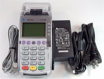 Vx520 Dual Comm Non-emv No Chip Card Reader Pn M252-153-03-naa-3 Unlocked