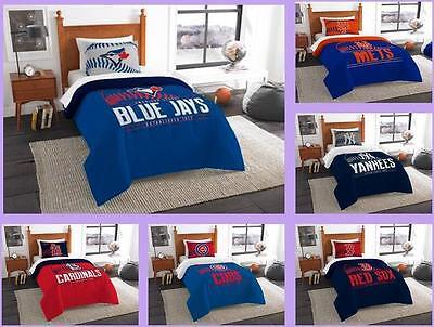 - MLB Licensed 2 Piece Twin Comforter & Sham Bed Set In A Bag - Choose Team