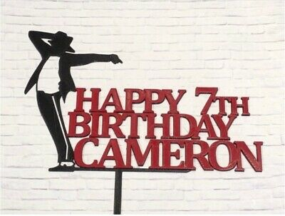 Michael Jackson Silhouette Custom Cake Topper](Michaels Cake Toppers)
