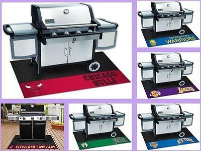 nba licensed barbecue bbq grill mat vinyl