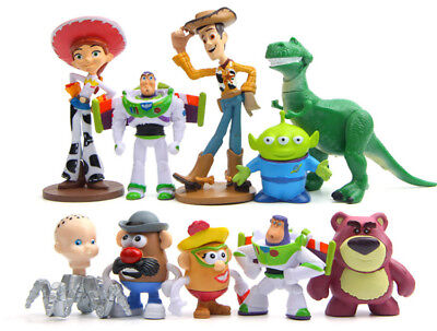 Toy Story Cakes (Lot 10 Toy story Action Figures Buzz Jessie Woody Figurines Doll Toy Cake)