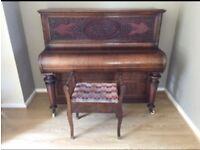 Collard & Collard upright antique piano