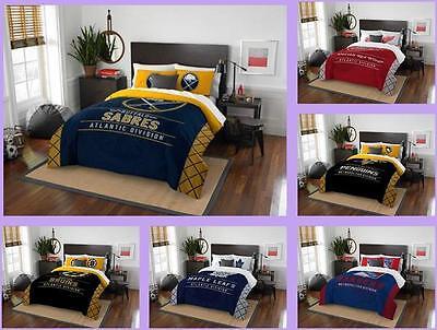 nhl licensed 3 piece full queen comforter