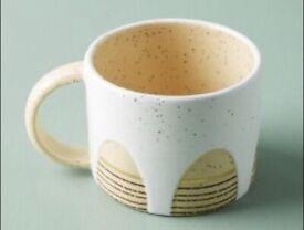 Anthropologie Mugs - set of 4