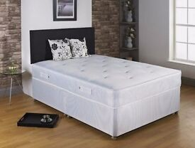 DOUBLE SIZE QUALITY MATTRESS WITH DIVAN BED BASE UK MANUFACTURED!!