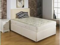 🔲🔳STRONG QUALITY DIVAN BASES🔲🔳 Brand New Double Divan Bed With 1000 Pocket Sprung Mattress